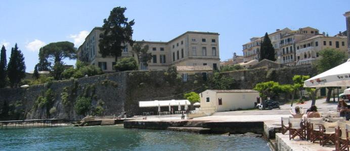 Corfu Town Palace From Faliraki